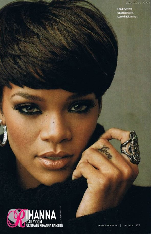 rihanna short hair. rihanna short hair 2009.